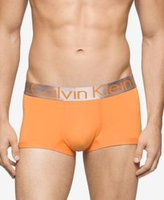 Calvin Klein Men's Underwear, Steel Micro Low Rise Trunk U2716 - Orange XL