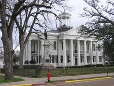 Hinds County Courthouse, circa 1859, in Raymond, Mississippi.