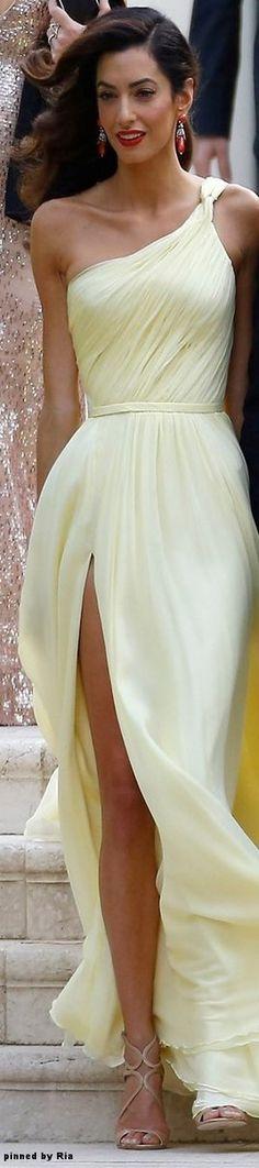 Amal Clooney in Atelier Versace l 2016 Cannes Film Festival l Ria