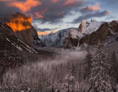 Valley Fire by IMG Imagery...... #sunset #winter #snow #valley #tunnelview #yosemitevalley #bridalveilfalls #Yosemite #ElCapitan #HalfDome