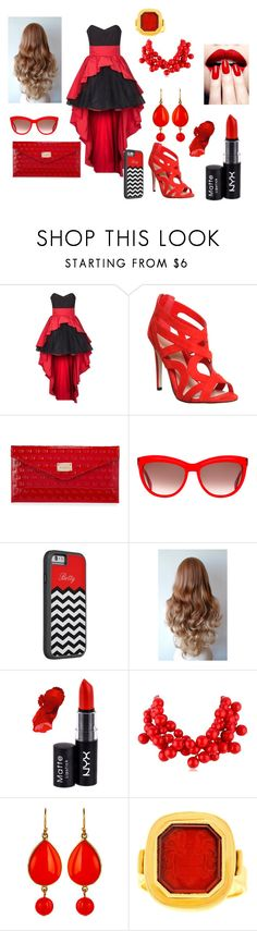 """""""blood moon"""" by lilybelle04 on Polyvore featuring Swing, Office, St. John, Alexander McQueen, NYX, Kenneth Jay Lane and Ben-Amun"""