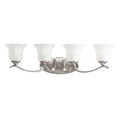 Kichler 10639NI Wedgeport 4-Light Bath Wall Mount in Brushed Nickel in Wall Lights, Bath Lights: ProgressiveLighting.com