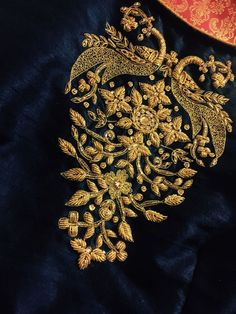 Renovate your Wardrobe, We provide customization in Designer Blouses & women ethnic wear. that reflect Amazing Handwork & Unique Zardosi Art at Your Budget & time, Worldwide Delivery. Embroidery Neck Designs, Hand Work Embroidery, Couture Embroidery, Embroidery Suits, Bullion Embroidery, Zardozi Embroidery, Bead Embroidery Patterns, Embroidery Fabric, Wedding Saree Blouse Designs