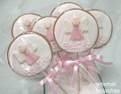 artemel bolachas: Batizado rosa