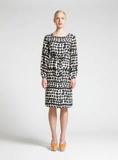 Manco-dress by Noora Niinikoski, pattern by Jenni Tuominen, Marimekko Short Dresses, Dresses For Work, Full Skirts, Marimekko, Fashion Outfits, Womens Fashion, Dress Skirt, What To Wear, Skinny Jeans