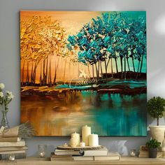 Decorative oil paintings on request. - Cuadros a la Carte - - Decorative oil paintings on request. - Cuadros a la Carte Abstract Tree Painting, Abstract Art, Easy Landscape Paintings, Oil Paintings, Tree Art, Beautiful Paintings, Artist Art, Watercolor Art, Modern Art