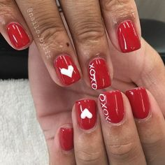 40 Stunning Valentines Nails Designs That Make You Look Beautiful - Valentine's Day can be such a wonderful day for us. All we have to do is roll with the punches and not take things too seriously. We all want that cut. Fancy Nails, Red Nails, Love Nails, Valentine's Day Nail Designs, Acrylic Nail Designs, Acrylic Nails, Gorgeous Nails, Pretty Nails, Valentine Nail Art