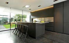 Alno Star Fine, Graphite Matt Kitchen with Stainless Steel Worktops