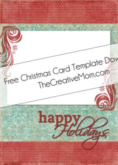 Christmas Card Templates {Free Download} | Pinterest | Christmas ...
