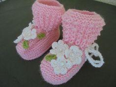 Handmade Knitted Newborn Baby Girl Flowery Pink Booties Socks Merino Wool US 3   #Babybooties #babysocks #babyshoes #girlshoes #girlsocks #girlbooties #wool #woolsocks #warm #merinowool #merinowoolsocks #newborn #toddler #firstshoes #newbornsocks #newbornshoes #christeningshoes #baptismshoes #christening #baptism #booties #shoes #socks