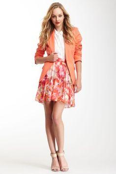Vince Camuto Floral Print Skirt