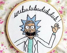 rick and morty embroidery - Google Search