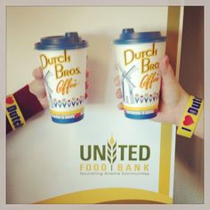 We all stopped #DutchBros AZ this morning to support Dutch LUV Day ♥! Donate 3 cans for United Food Bank & get a drink and wristband for $1! HURRY ENDS TONIGHT AT 10PM! #fooddrive #arizona #give #donate #coffee #hunger #poverty #feedingamerica #mesa #chandler #gilbert #phoenix #tempe #scottsdale