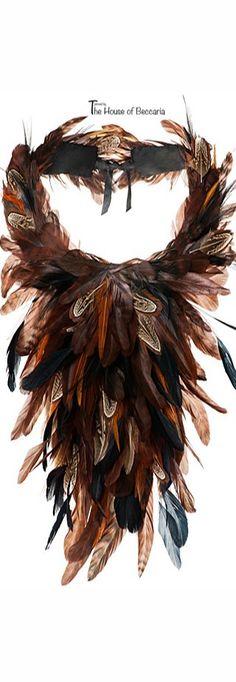~Alberta Ferretti Feather Necklace FW  2014 | House of Beccaria#