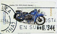 stamp Spain timbre Espagne € 0.34 34c bike Nimbus 750 1939 motorcycle Correos postage selo España sello francobolli Spagna franco bollo почтовая марка Испания pullar İspanya 邮票 西班牙 Xībānyá Briefmarken Spanien 西班牙 邮票 poštanske marke Španjolska frimærker sp