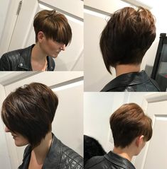 Short Asymmetrical Stacked Cut