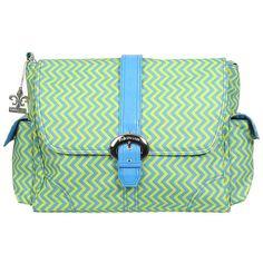 Kalencom Wiggly Stripes Ocean Matte Coated Diaper Bag