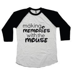 "Disney ""Making Memories With the Mouse"" - Boy or Girl Raglan"