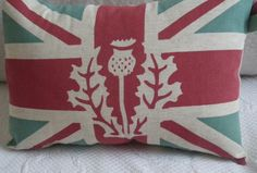 Scottish Thistle on Union Jack