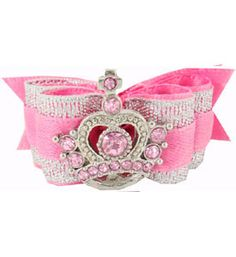 Pink Dog Bows Your Royal Highness Princess Tiara 5/8  This one is my favorite of all !