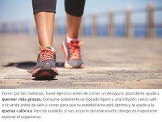 Apostar por el deporte a primera hora ayuda a quemar grasas. Pero repón fuerzas.