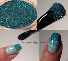 How to do ambre glitter nails.