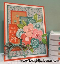 Blossom with C1612 Showers Flowers stamp set -
