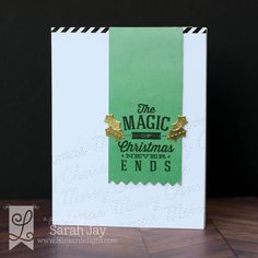 The Magic of Christmas Never Ends card featuring Lil' Inker Designs Big Christmas clear stamp set and Stitched Holiday Words dies