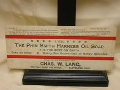 Vintage Ink Blotter The Phin Smith Harness Oil Soap #PhinSmithHarnessOilSoap