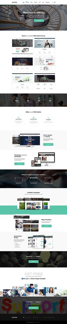 Starbis Business #website #template. #themes #business #responsive #websitethemes