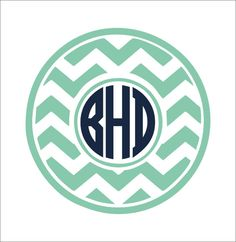 For footboard of bed. Chevron Monogram Decal Large Vinyl Wall by CustomVinylbyBridge, $28.00