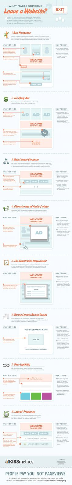 WEBDESIGN - What makes someone leave a website?...