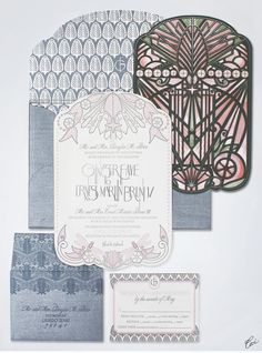CeciStyle V113: Vive La Femme: Soft Modern Aspen Wedding - Be inspired by Ginger & Ernest's soft, modern Aspen wedding - wedding, invitations, foil printing, letterpress printing, die-cutting, watercolor, digital printing