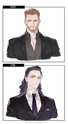 Thor and Loki Loki Art, Thor X Loki, Bd Comics, Marvel Dc Comics, Chris Hemsworth, Mundo Comic, The Avengers, Loki Laufeyson, Film Serie