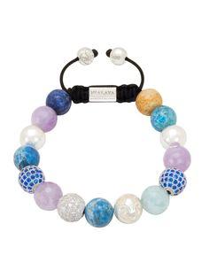 CZ Diamond, Amethyst Lavender, Larimar & Aquamarine