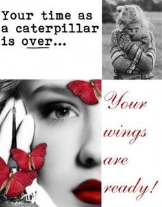 Your time as a caterpillar is over - Your wings are ready - fashion and beauty quotehttp://www.simplychicforyou.com/