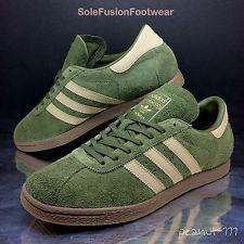 adidas Originals Mens Tobacco Trainers Green/Brown sz 9 Rare Sneaker US 9.5 43.3
