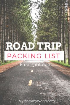 Use this road trip packing list to help you make packing for a road trip easy!