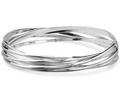 Every girl needs bangles! - Ensemble Bangle Bracelets in Sterling #Silver from #BlueNile #Jewelry