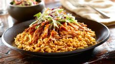 BBQ Pulled Pork and Rice Platter MY FAVORITE PLATE OF FOOD!! Like litteraly!! MY FAVORITE!!<3
