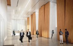 Image 6 of 10 from gallery of Sequis Centre Tower / KPF. Photograph by KPF Office Building Lobby, Office Lobby, Corporate Interiors, Office Interiors, Lobby Interior, Interior Architecture, Interior Design, Office Entrance, Office Space Design