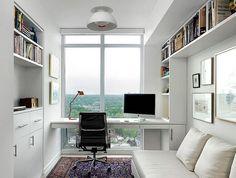 Zona de trabajo en habitación de invitados