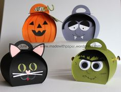 Ideen für die Box Halloween is right around the corner and I have the perfect Halloween crafts for you this week! The new Curvy Keepsake Box Thinlits Dies is so easy to use and so versatile! Dulceros Halloween, Bonbon Halloween, Moldes Halloween, Manualidades Halloween, Halloween Favors, Halloween Cards, Holidays Halloween, Halloween Treats, Halloween Decorations