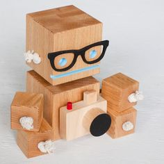 Camera Bot A Robot Made From Reclaimed Oak $50