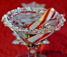 Gourmet Cooking For Two: Candy Cane Martini2 oz. Vodka 2 oz. Peppermint Schnapps 2 oz. Whipped Cream Vodka Ice One Peppermint stick or Candy Cane.