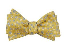 Bow Ties - Free Fall Floral - Yellow Gold