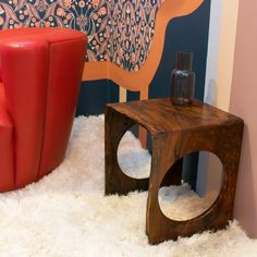 "Austin Heitzman Furniture on Instagram: ""Neutral is fine, but color! From @lonesomepictopia opening. . #furnituredesign #interiordecor #designdecor #sidetable #liveedgefurniture…"" Live Edge Furniture, Furniture Design, Accent Tables, Small Tables, Interior Decorating, Neutral, Room, Instagram, Home Decor"