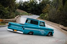 Ron Palermo's 1965 Shop Truck hits the sweet spot and then some. Ron was smitten by this 1965 Chevy when he first saw it. A local auto body man had originally built it as a personal project over a five-year period. Bagged Trucks, Old Ford Trucks, Classic Chevy Trucks, Diesel Trucks, Chevy Classic, Classic Cars, Dodge Diesel, C10 Chevy Truck, Lifted Chevy Trucks