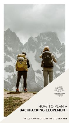 A must-read guide to planning your epic backpacking elopement in Europe from adventure elopement expert Wild Connections Photography. Backpacking Pictures, Best Wedding Planner, Wedding Planning, Iceland Wedding, Wedding Abroad, Elopement Inspiration, Big Challenge, Couple Pictures, Alps