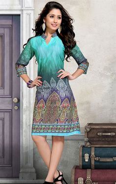 Picture of Fabulous Sea Green Color Tunic